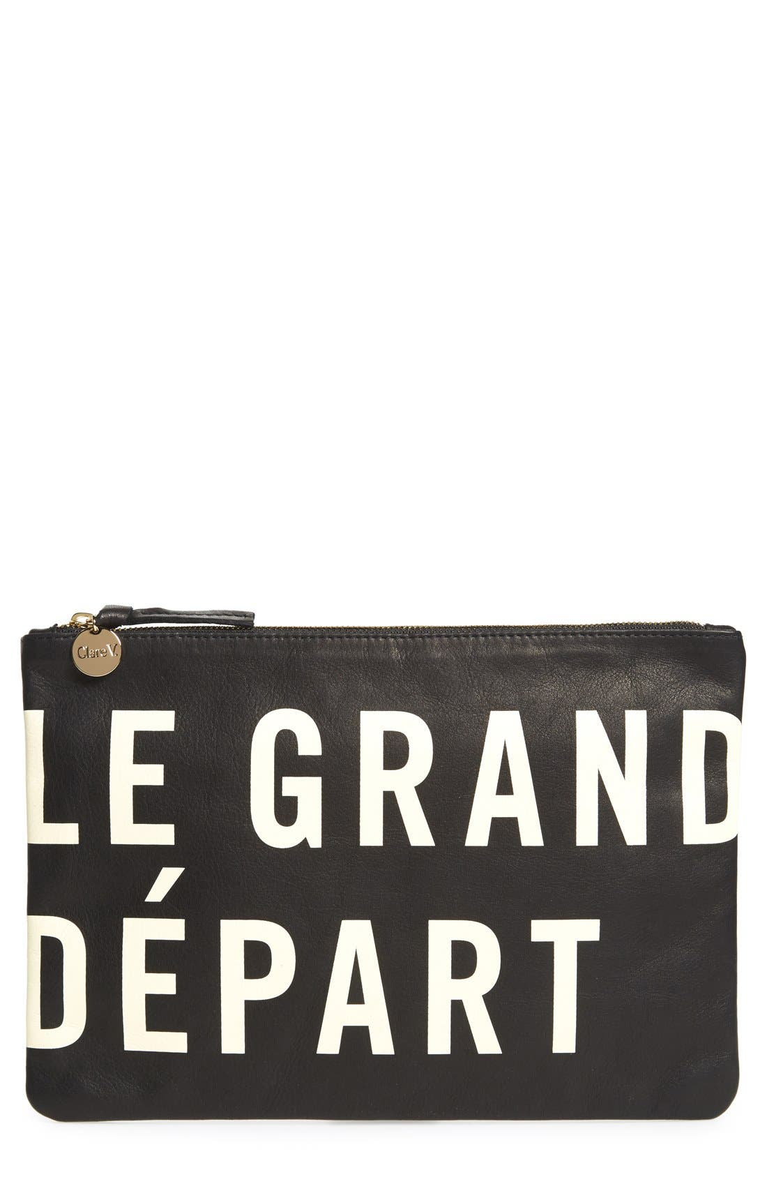 Alternate Image 1 Selected - Clare V. 'Le Grand Départ' Clutch