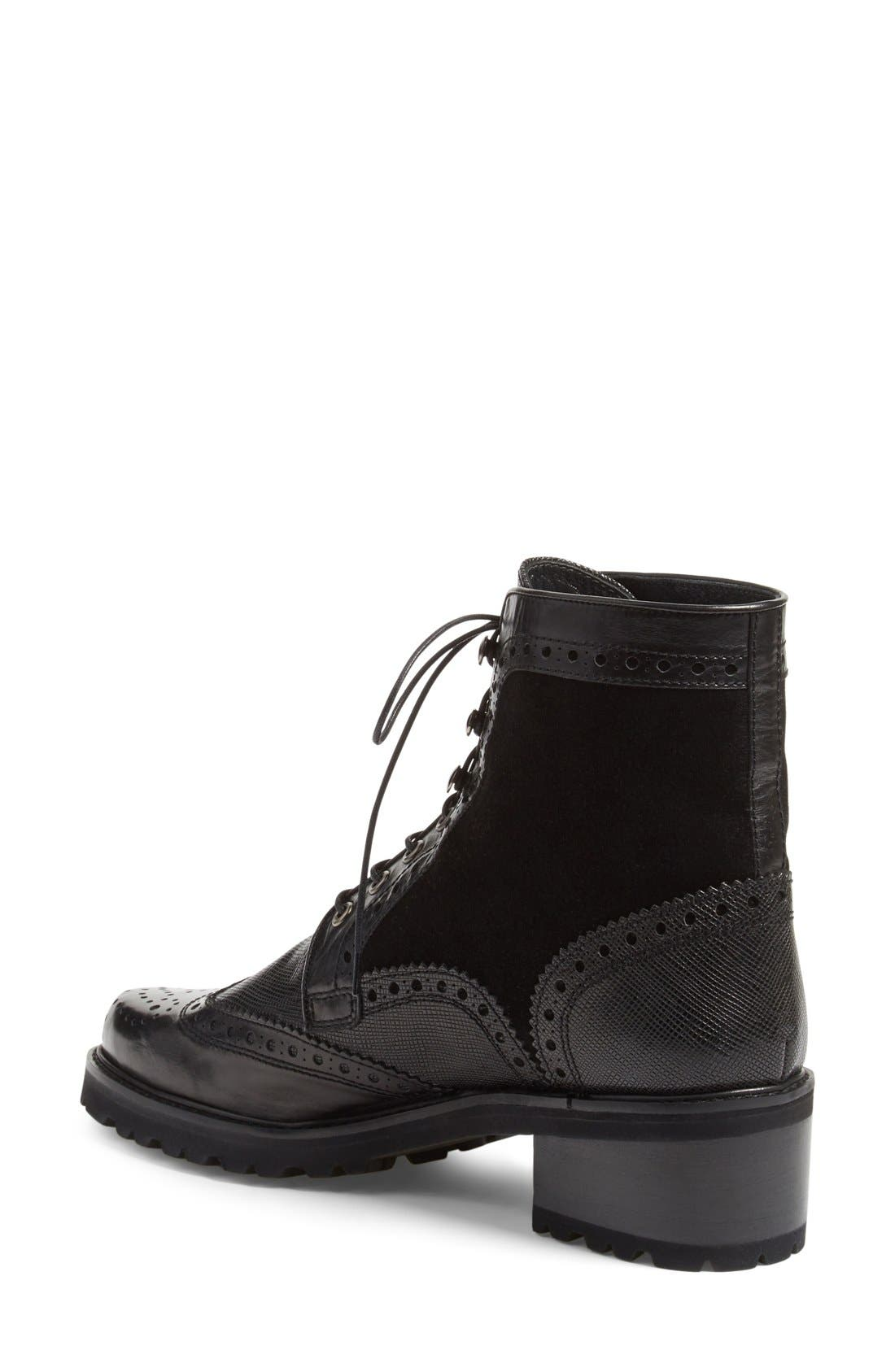 Alternate Image 2  - Stuart Weitzman 'Brogen' Wingtip Boot (Women)