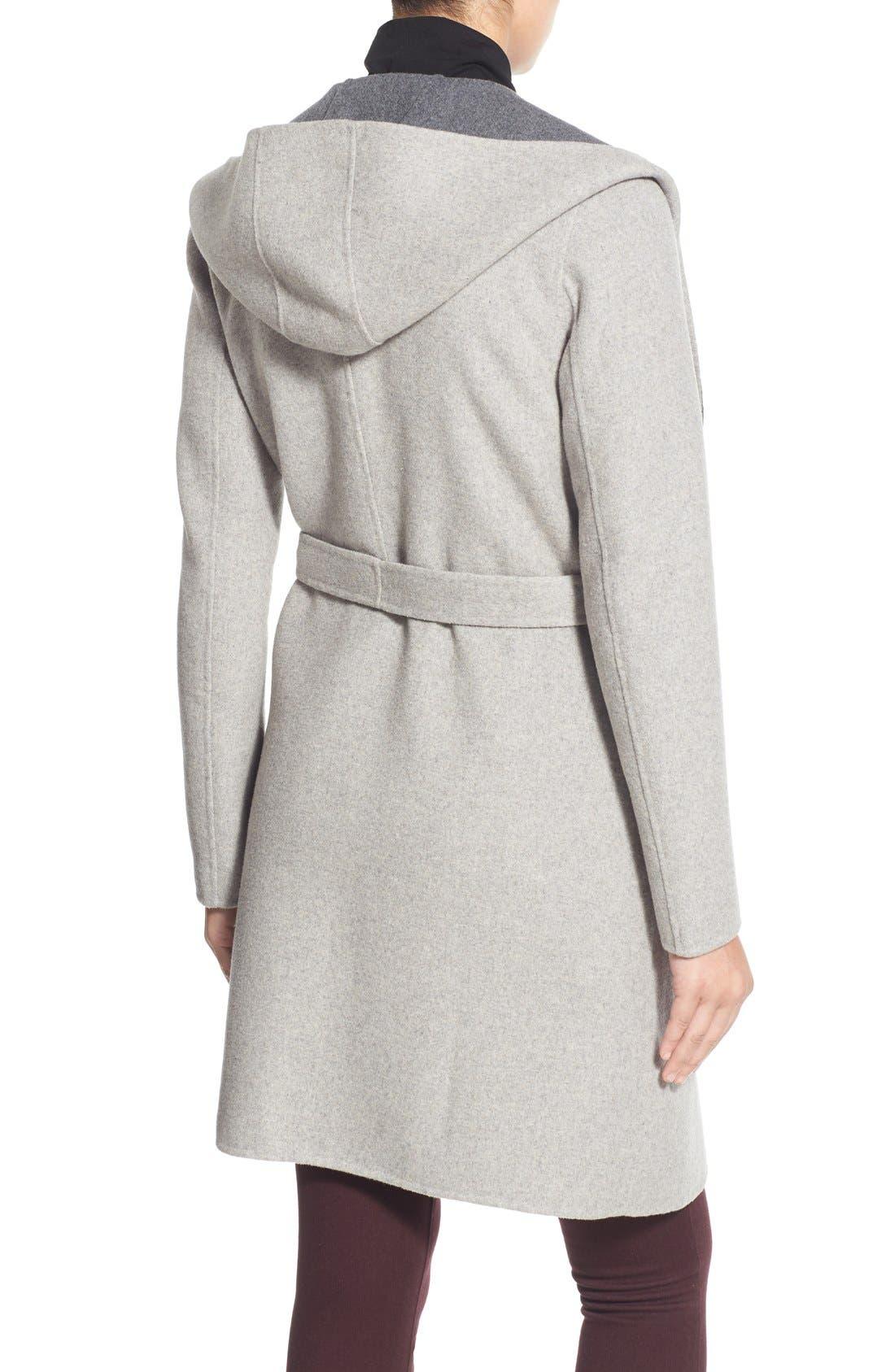 Alternate Image 4  - Soia & Kyo Reversible Double Face Hooded Wrap Jacket