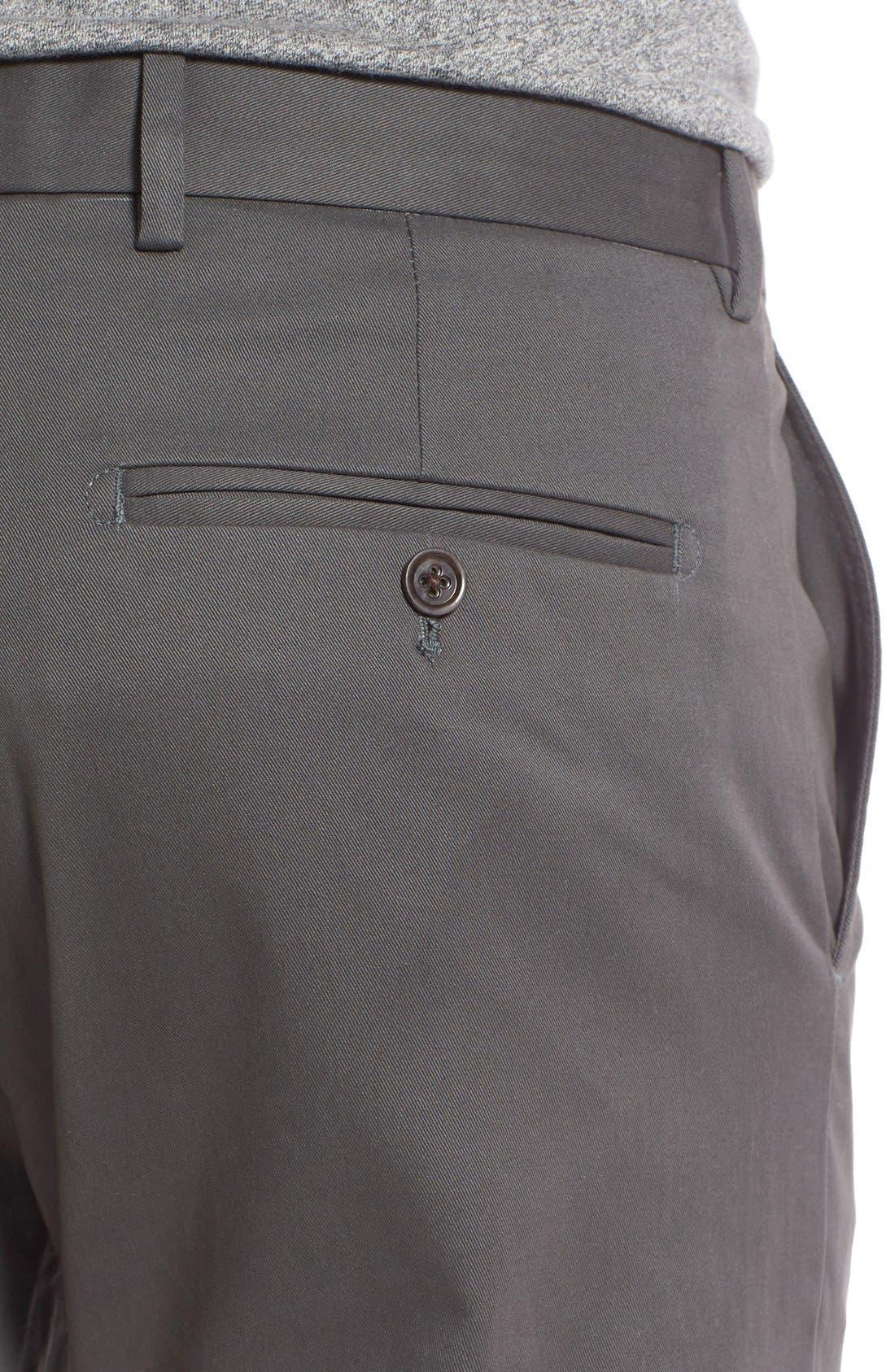 Alternate Image 4  - Nordstrom Men's Shop Smartcare™ Slim Leg Twill Pants