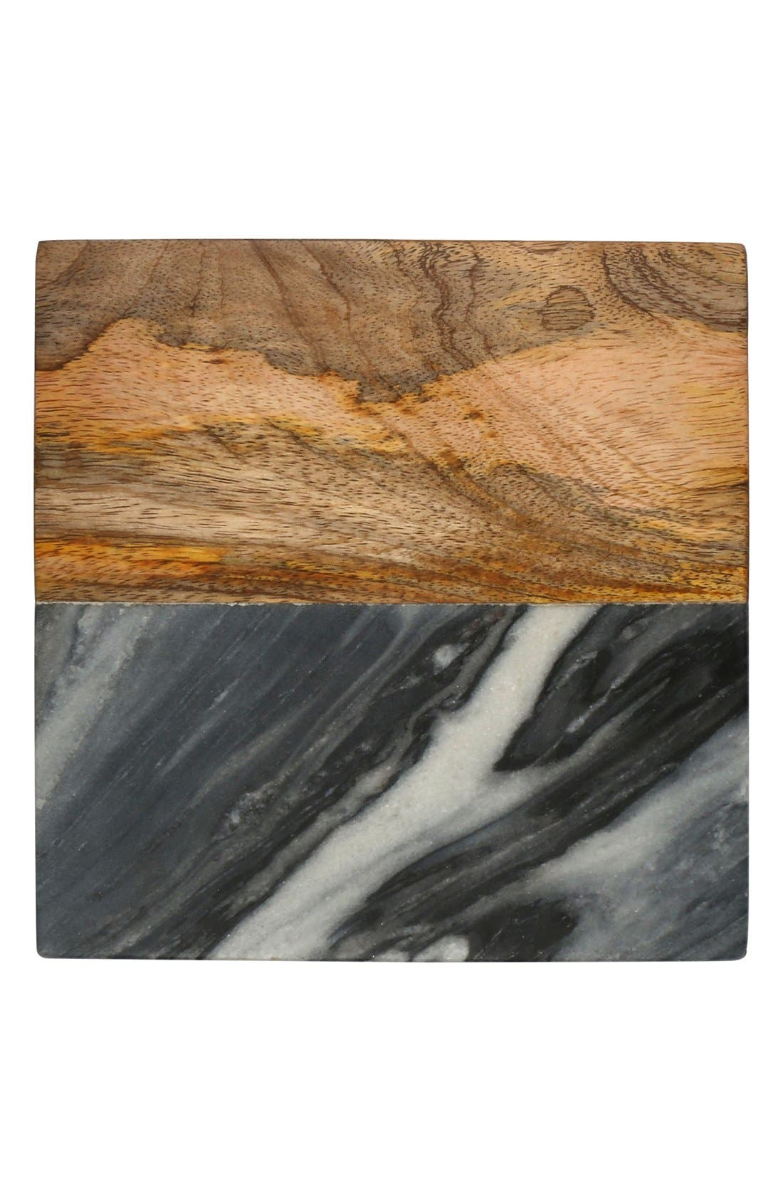 Thirstystone Set of 4 Wood & Marble Coasters