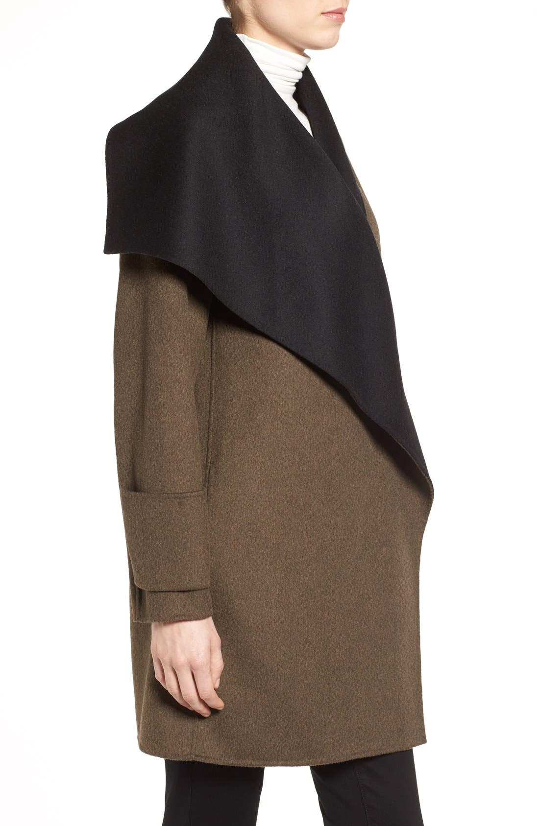 Alternate Image 3  - Calvin Klein Double Face Drape Front Coat