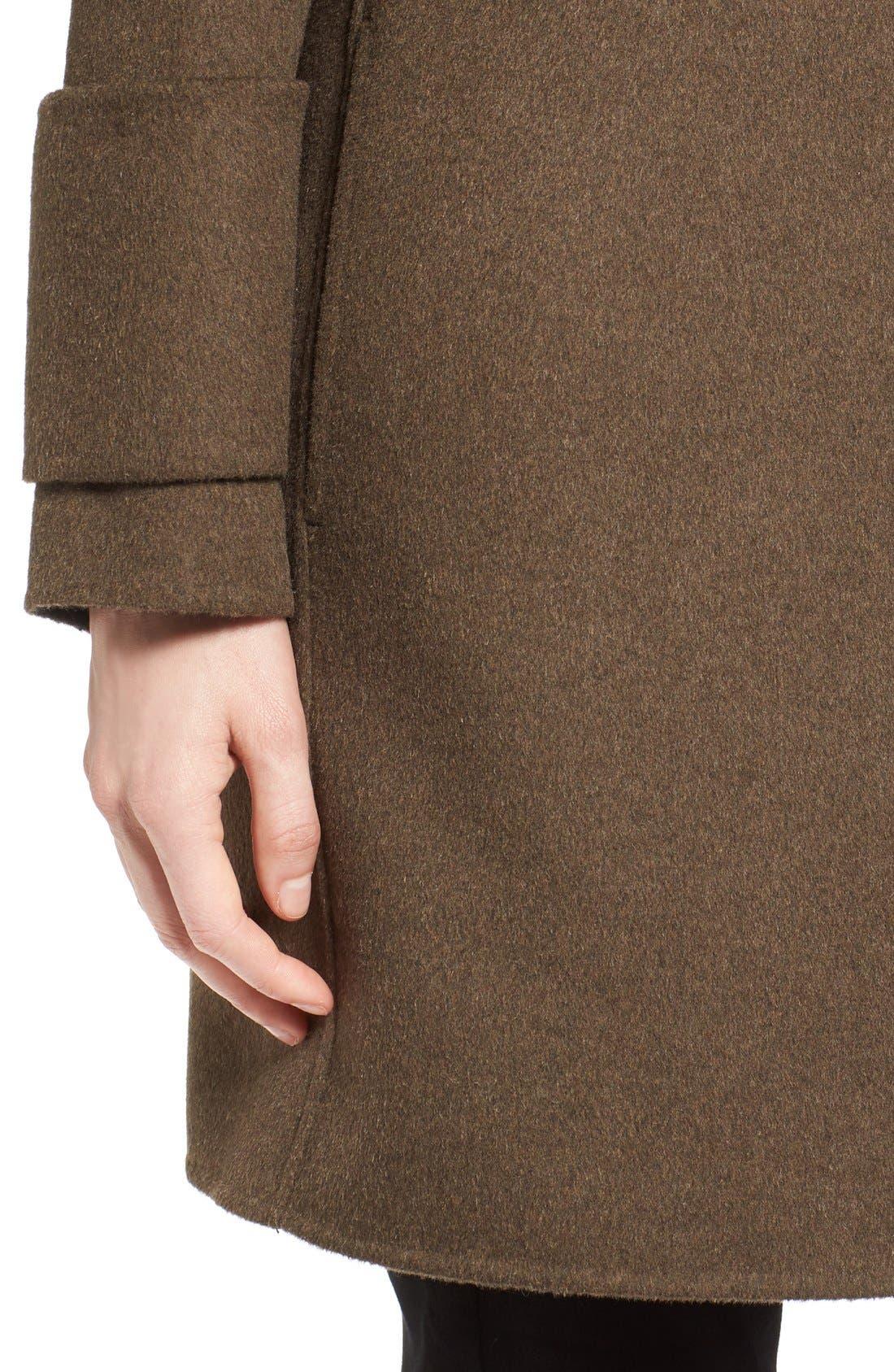 Alternate Image 4  - Calvin Klein Double Face Drape Front Coat