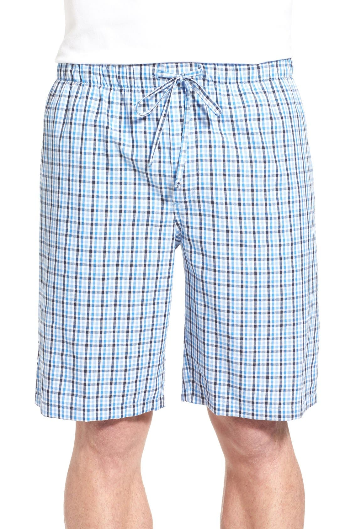 NORDSTROM MEN'S SHOP Nordstrom Plaid Pajama Shorts