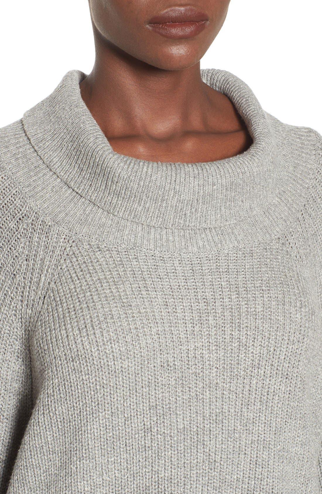 Alternate Image 4  - Leith Cowl Neck Shaker Pullover