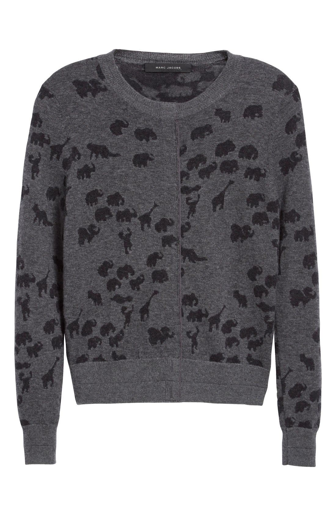 Alternate Image 4  - MARC JACOBS Animal Jacquard Cashmere Sweater