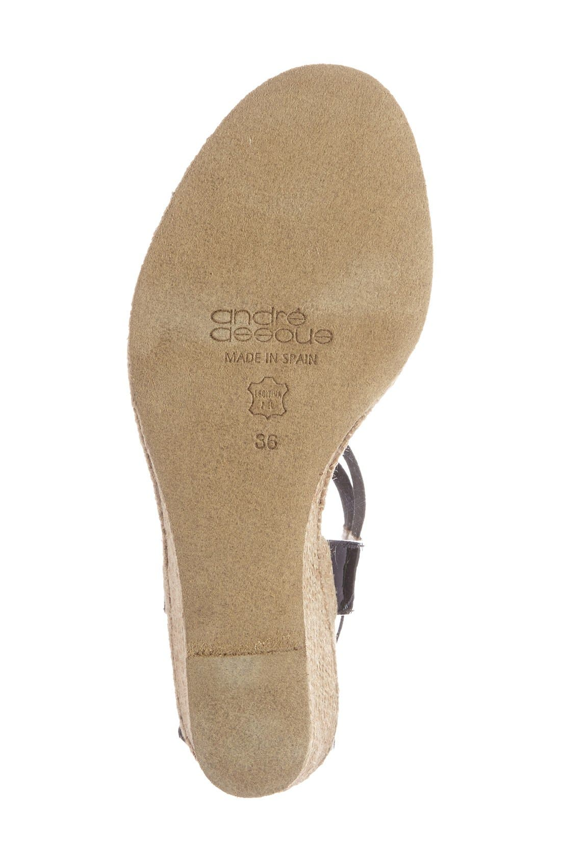 Alternate Image 4  - André Assous 'Pippi' Espadrille Wedge Sandal (Women)
