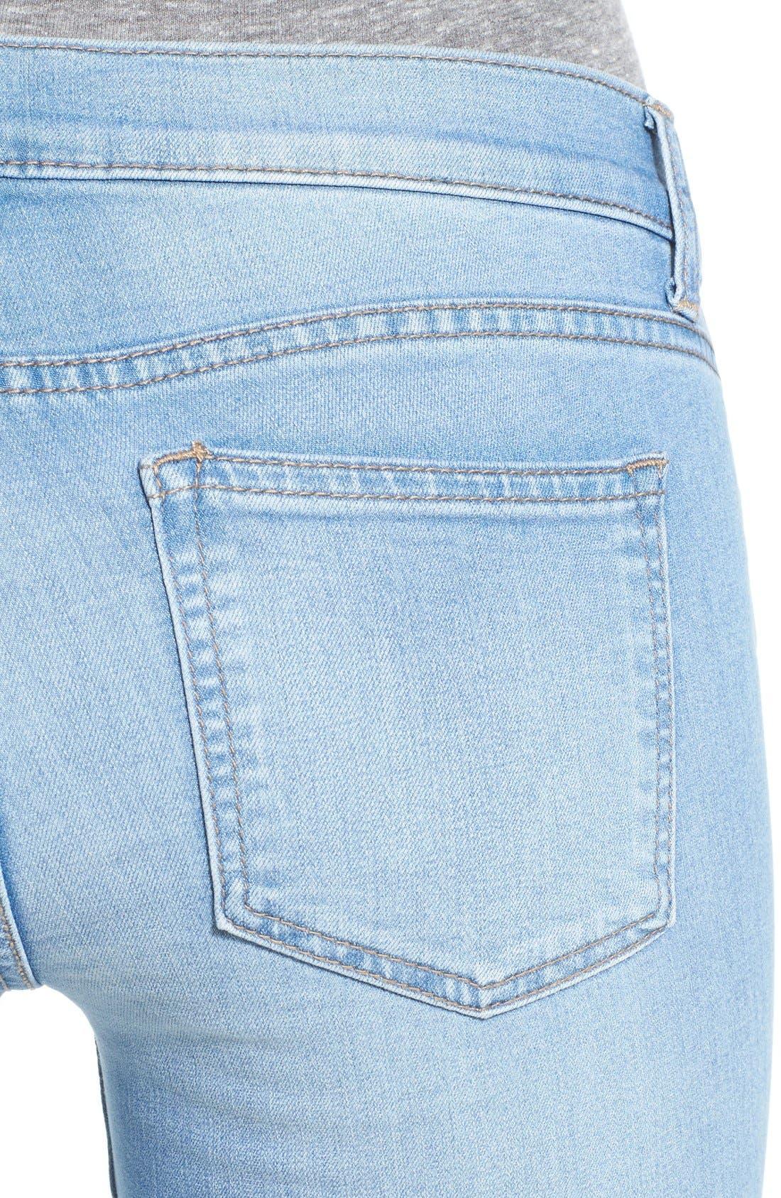 Alternate Image 4  - SP Black Destroyed Skinny Jeans