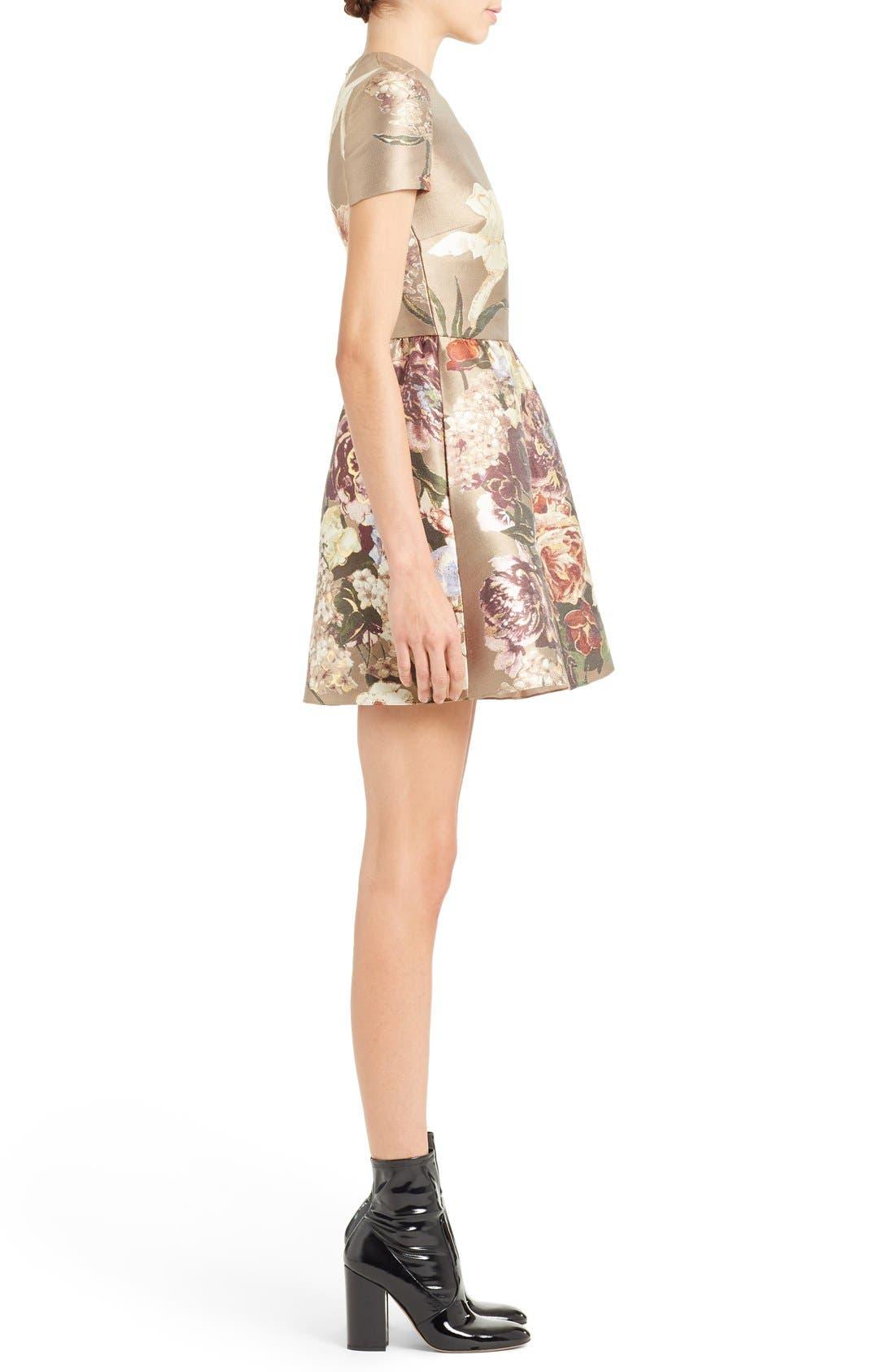 Alternate Image 4  - Valentino Kimono Floral Silk Blend Jacquard Dress