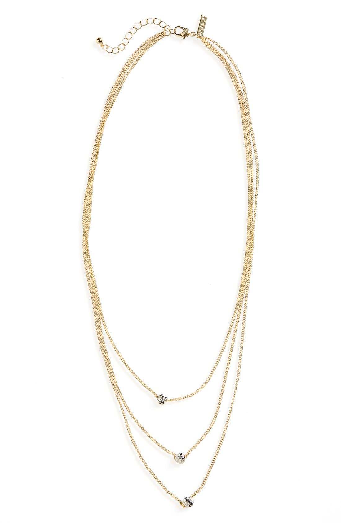 Alternate Image 1 Selected - Topshop Simple Bead Layer Necklace