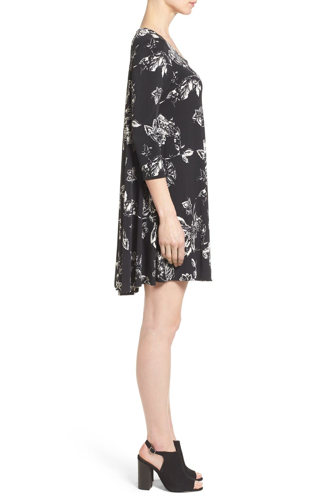 Alternate Image 3  - Karen Kane 'Maggie' Floral Print Trapeze Dress