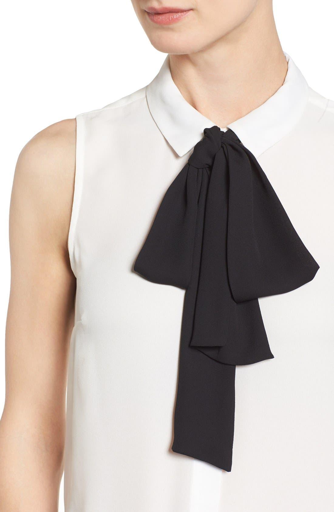 Alternate Image 4  - CeCe Tie Neck Sleeveless Blouse
