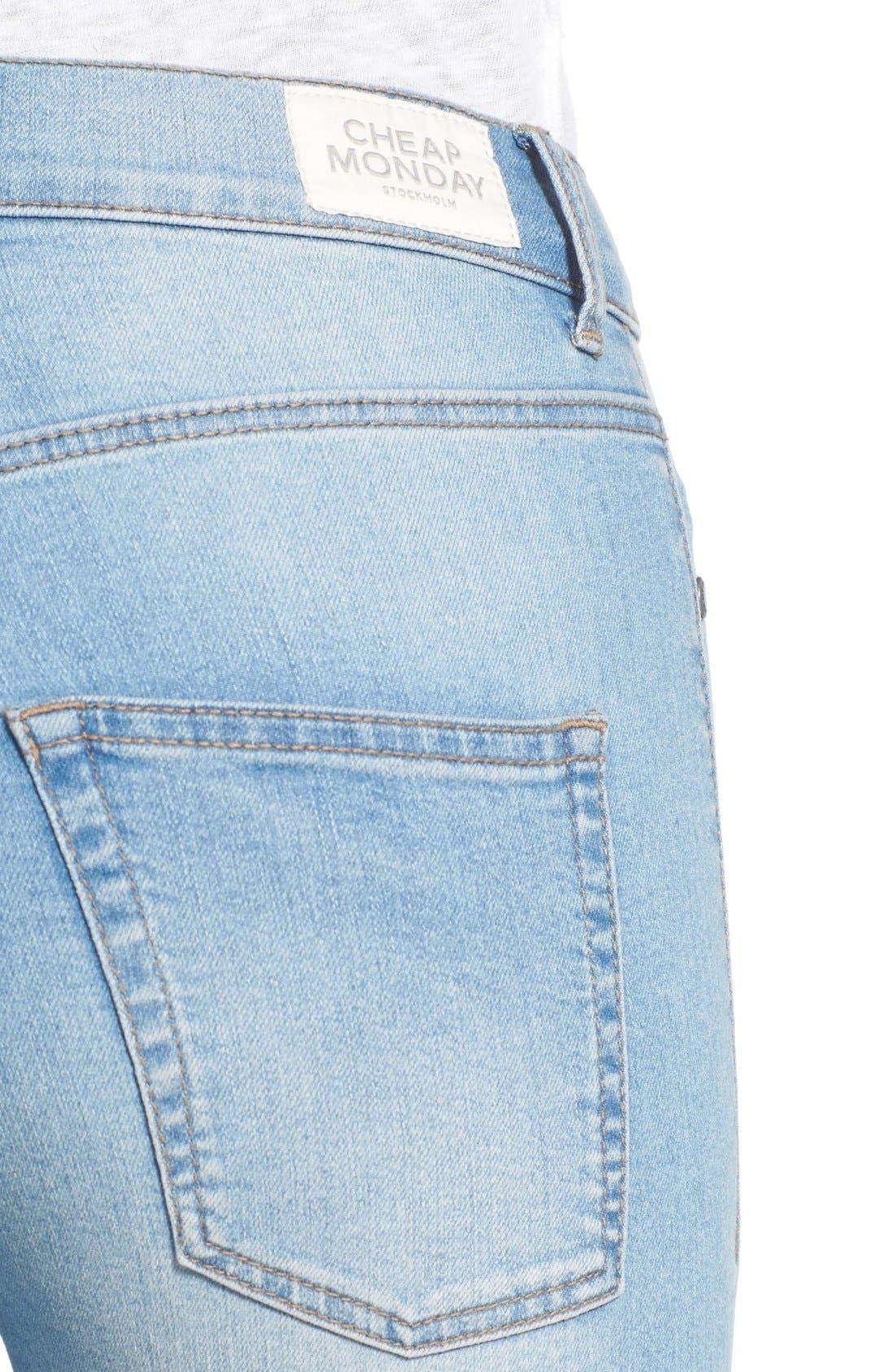Alternate Image 4  - Cheap Monday 'High Spray' High Rise Skinny Jeans (Stone Bleach)