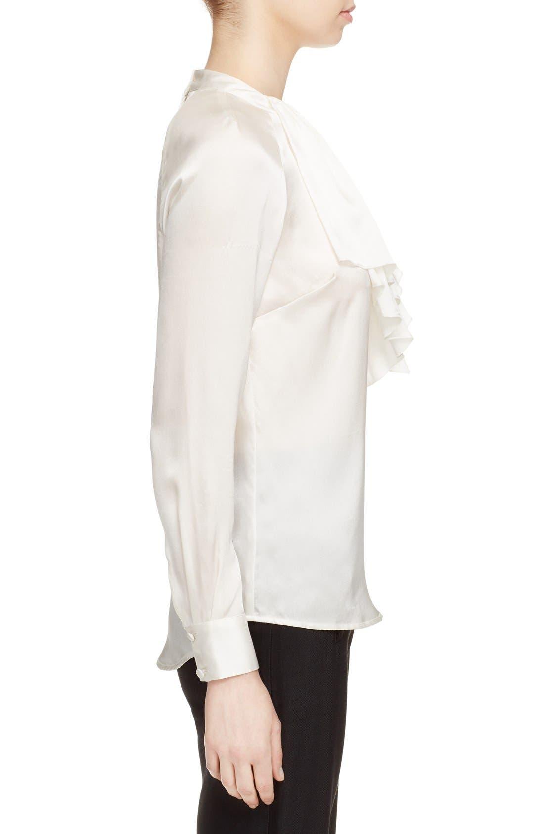 Alternate Image 3  - Veronica Beard 'Riverside' Ruffle Neck Silk Blouse