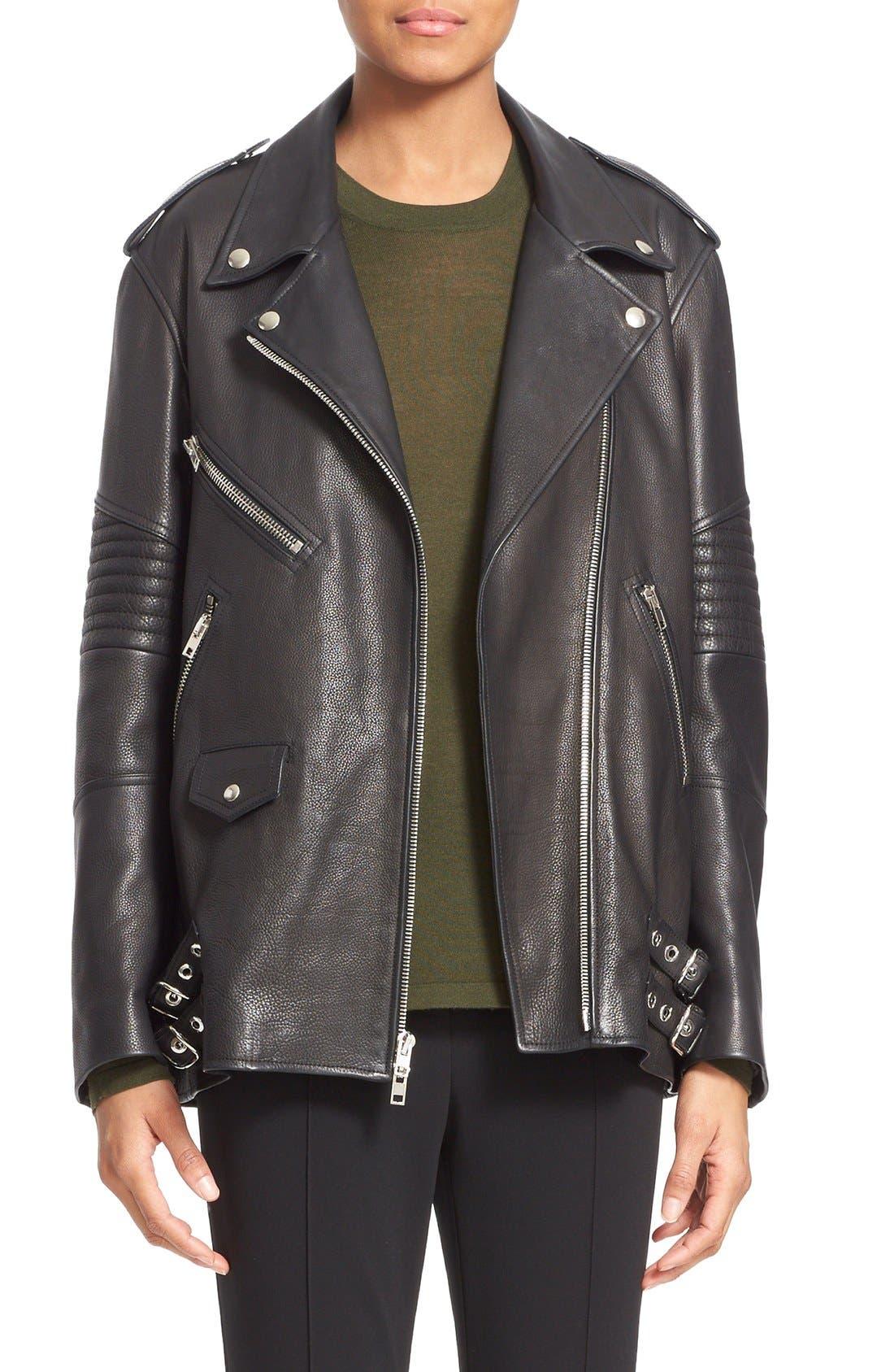 Alternate Image 1  - Alexander Wang Leather Moto Jacket