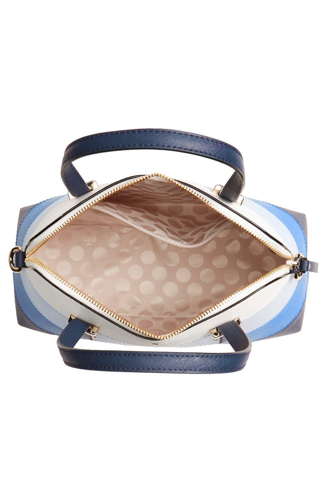 Alternate Image 3  - kate spade new york 'cedar street - stripe maise' colorblock crosshatch leather satchel