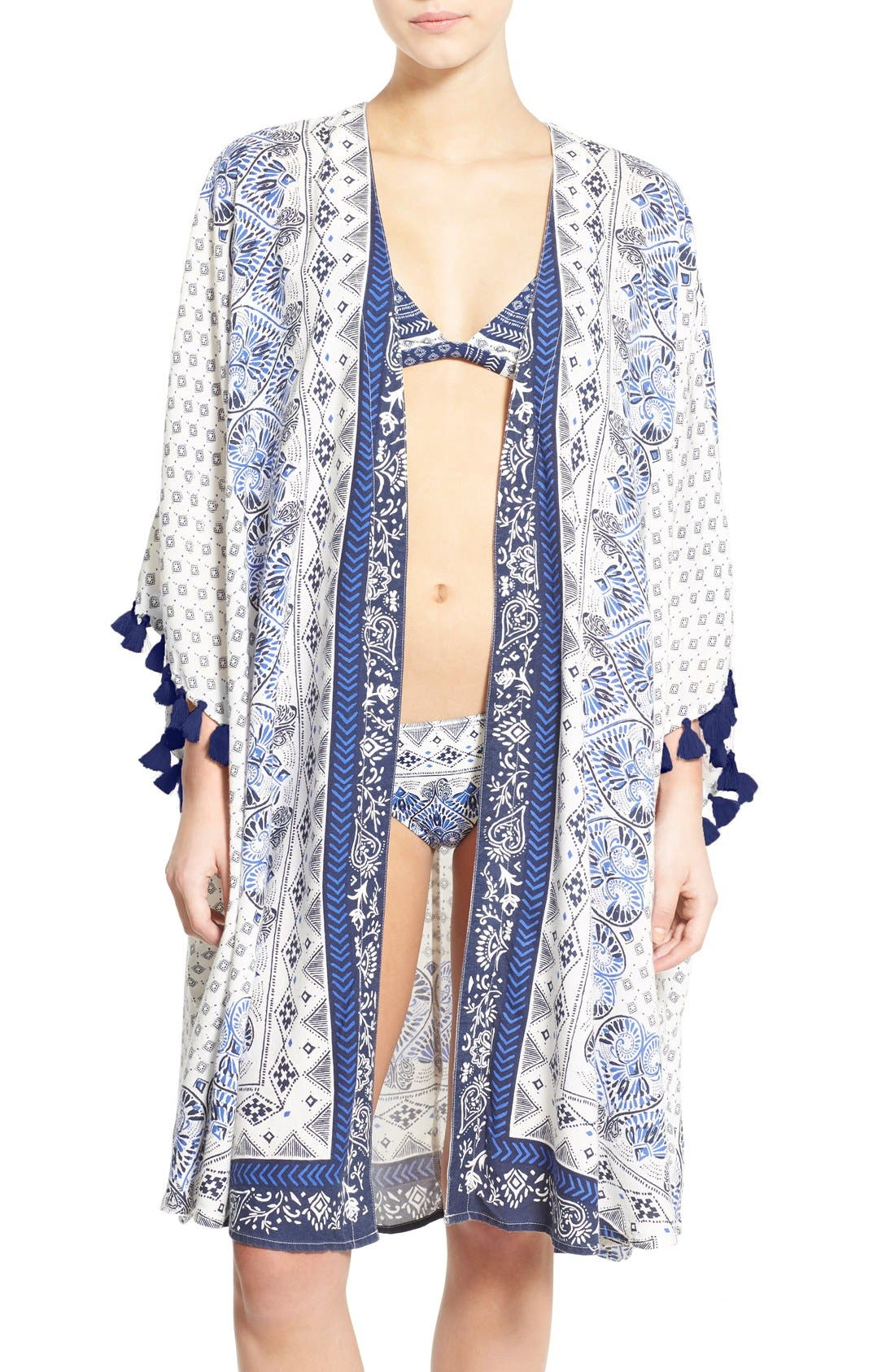 Alternate Image 1 Selected - Roxy 'Souk' Paisley Cover-Up