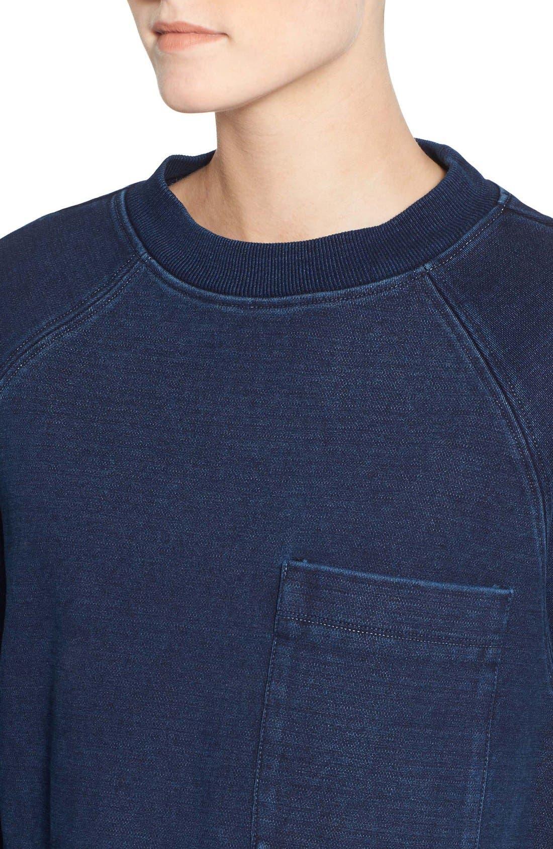 Alternate Image 4  - AG Indigo Capsule Collection Cubo Crop Sweatshirt