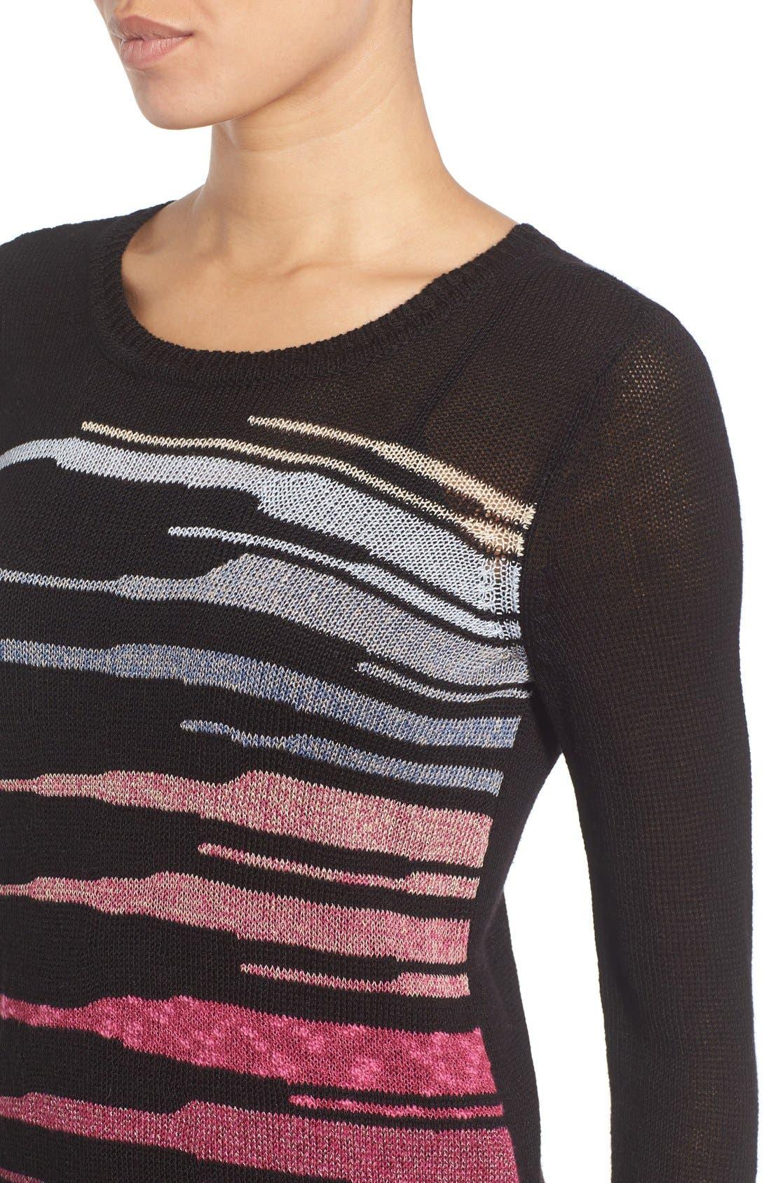 Alternate Image 5  - NIC+ZOE 'Speared' Print Lightweight Sweater
