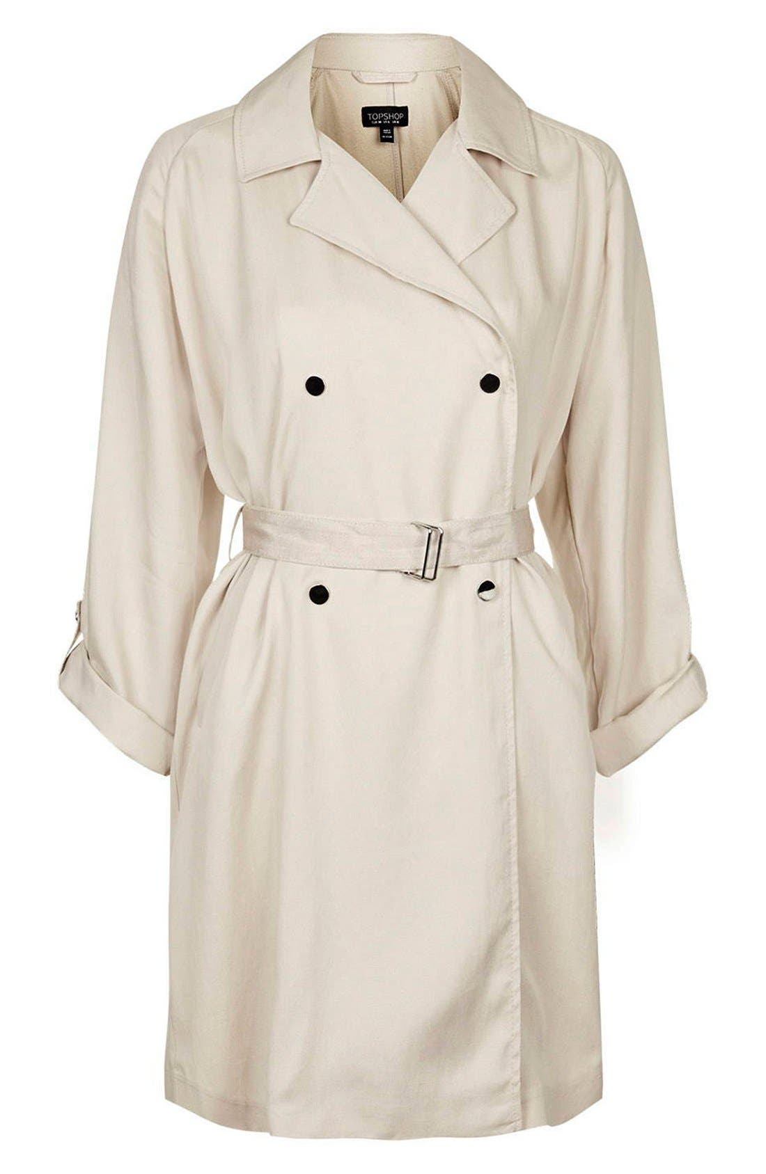 Alternate Image 4  - Topshop Textured Double Breasted Coat