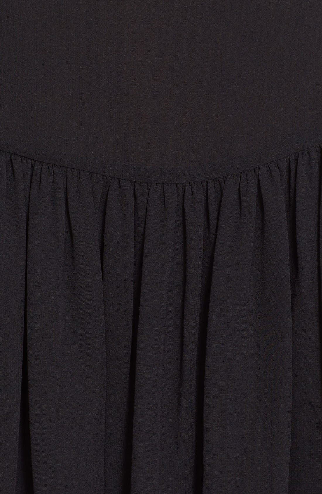 Alternate Image 5  - See by Chloé Lace Trim Silk Georgette Dress