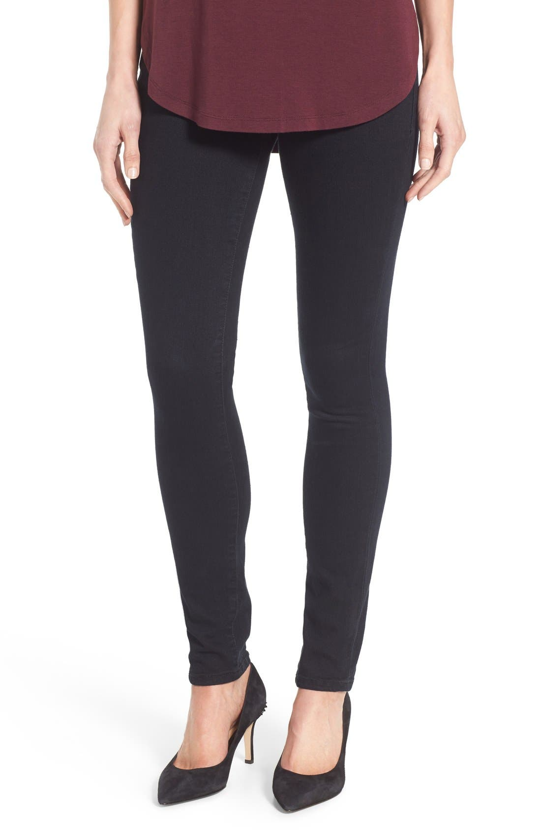 Jag Jeans 'Nora' Pull-On Stretch Skinny Jeans (Black Void) (Regular & Petite) (Online Only)