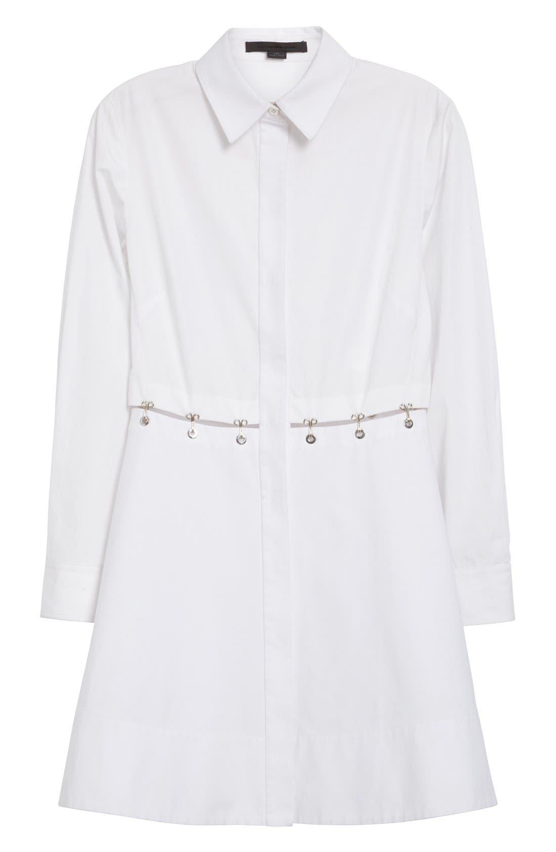 Alternate Image 4  - Alexander Wang Hook & Grommet Detail Cotton Poplin Shirtdress