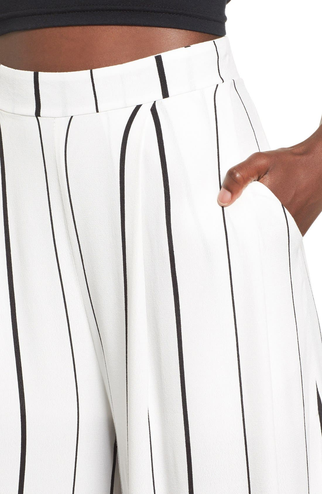 Alternate Image 6  - Leith Stripe Crop Wide Leg Pants