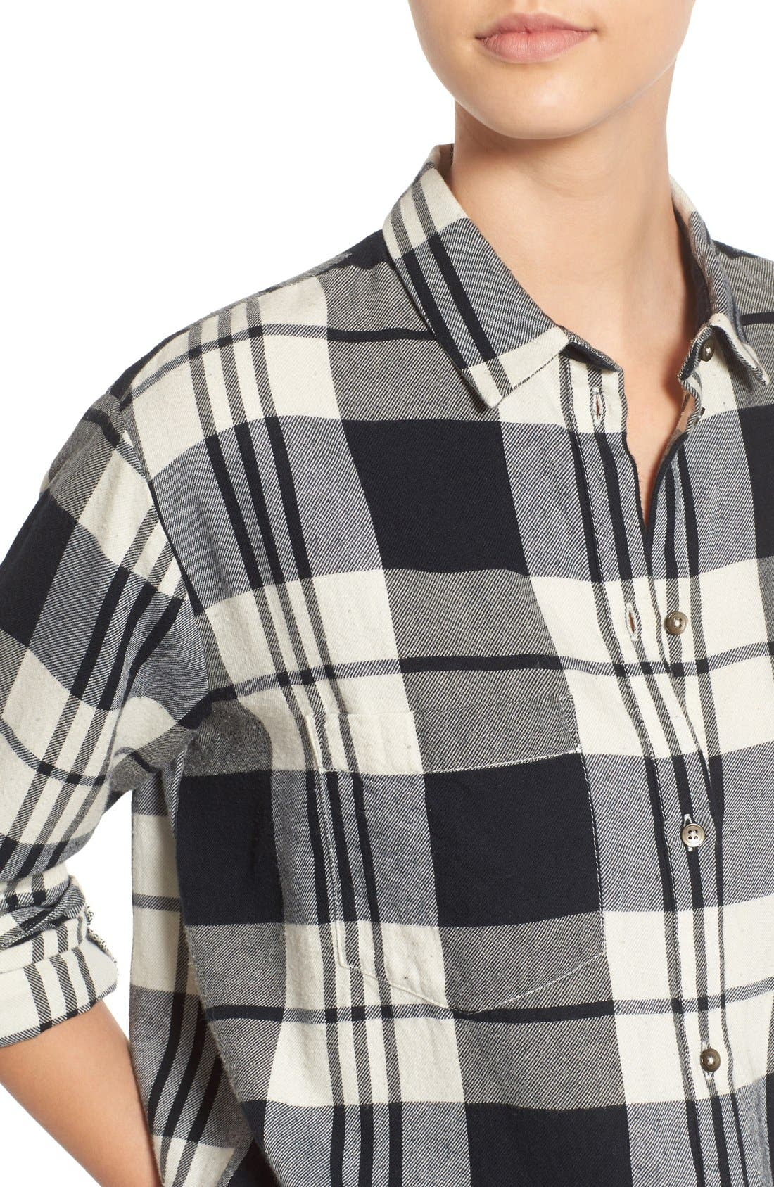 Alternate Image 4  - Madewell 'Ex Boyfriend' Plaid Oversize Cotton Shirt