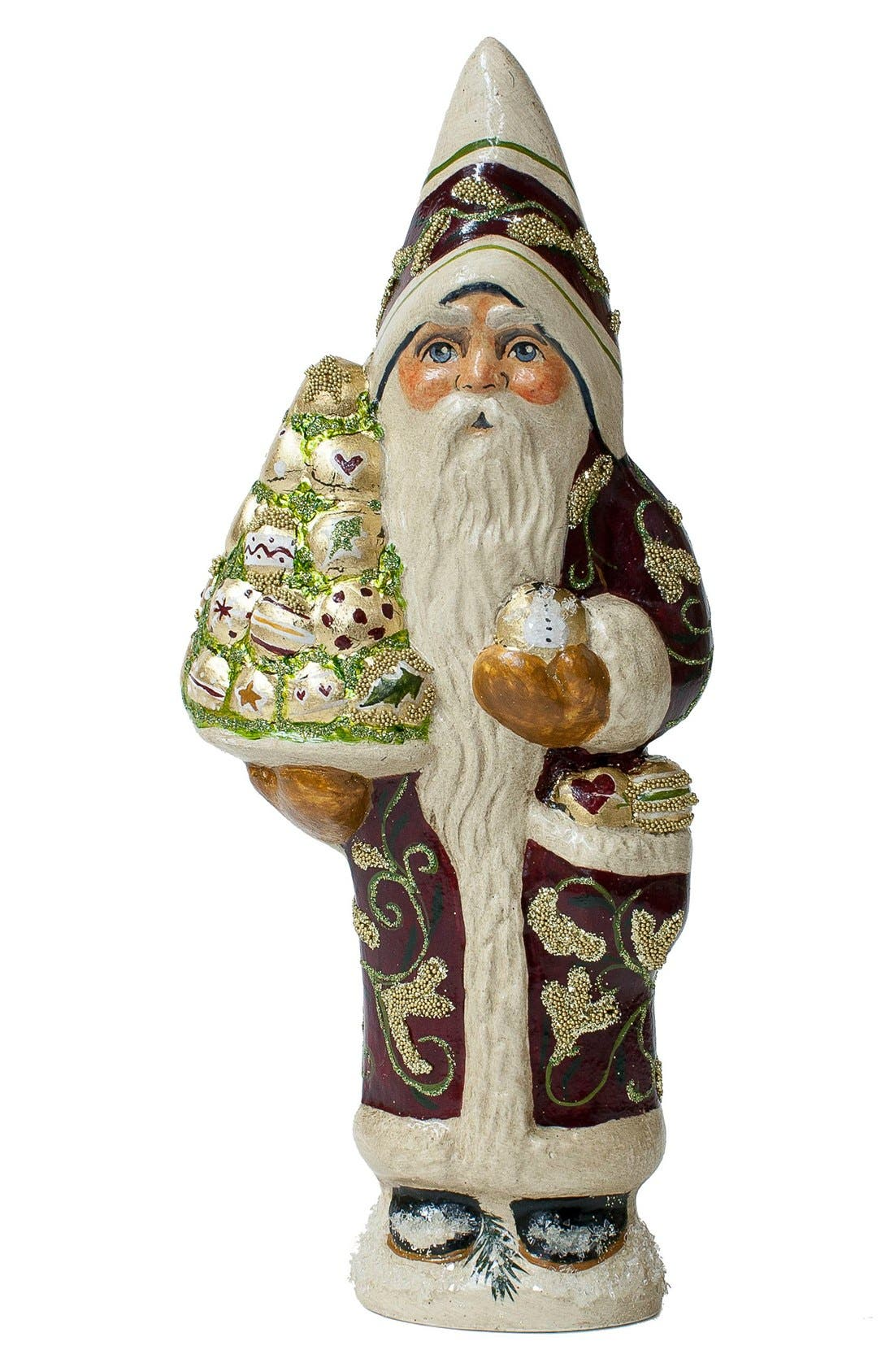 Vaillancourt 'Santa in Brocade Coat with Tree' Figurine