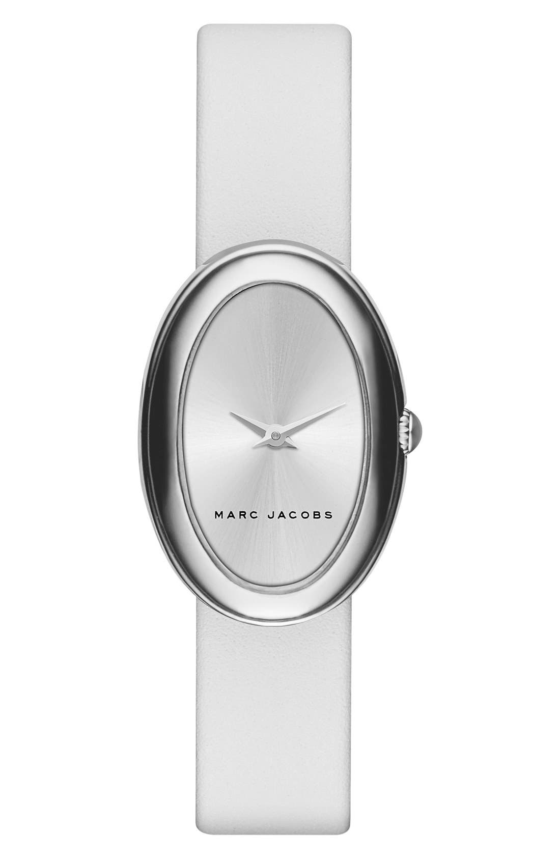 Main Image - MARC JACOBS 'Cicely' Leather Strap Watch, 31mm