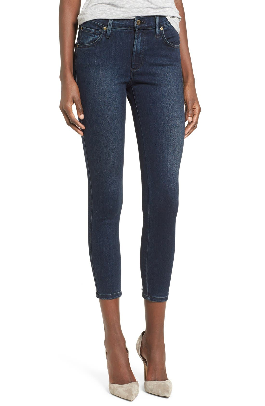 Alternate Image 1 Selected - James Jeans Ankle Zip Skinny Jeans