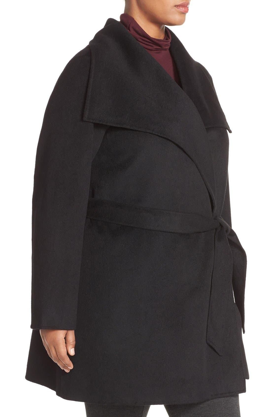 Alternate Image 4  - Tahari 'Ella' Wrap Coat (Plus Size)