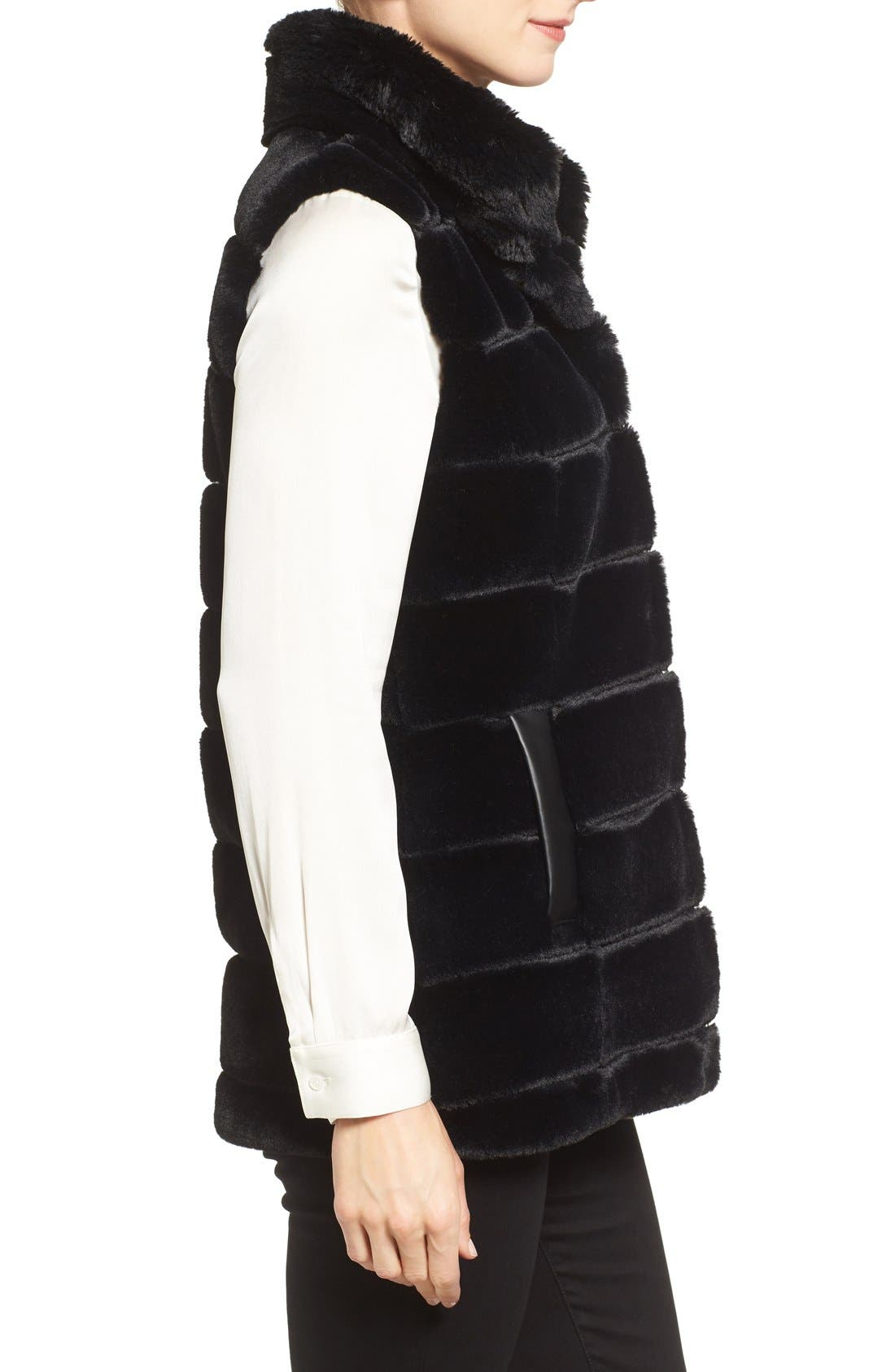 Alternate Image 3  - Jones New York Reversible Faux Fur Vest