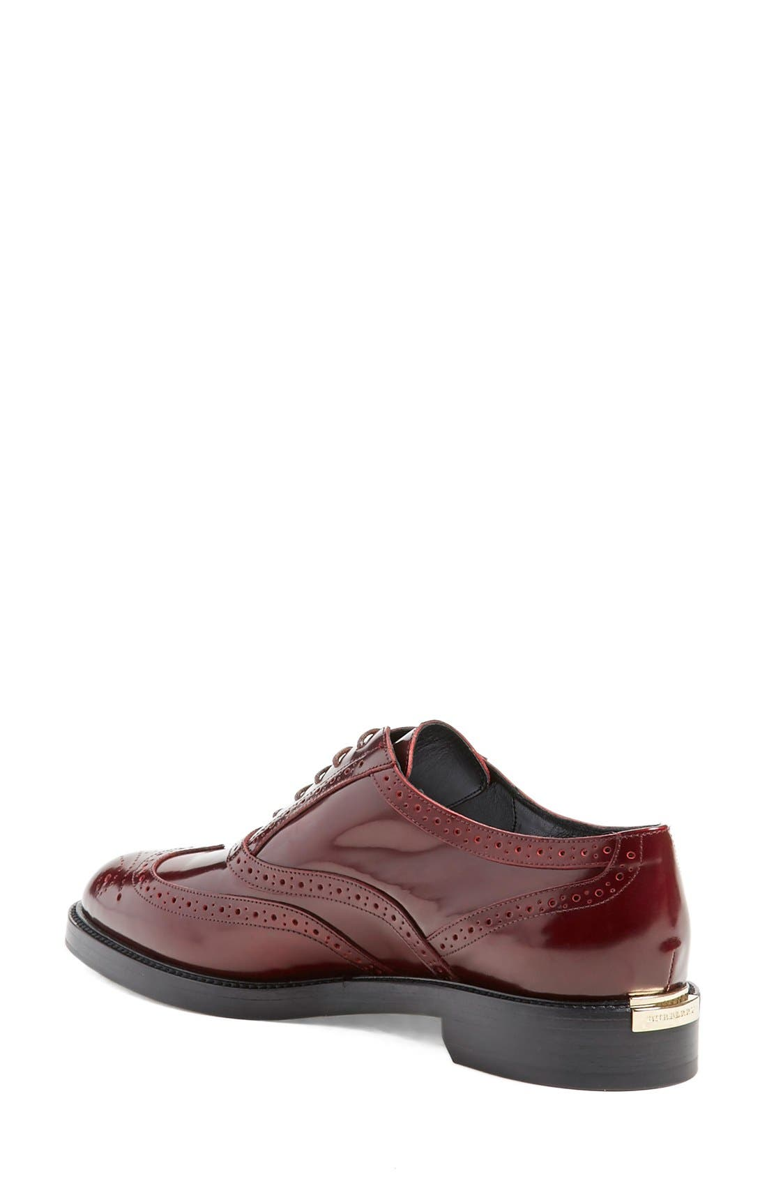 Alternate Image 2  - Burberry 'Gennie' Lace-Up Oxford (Women)
