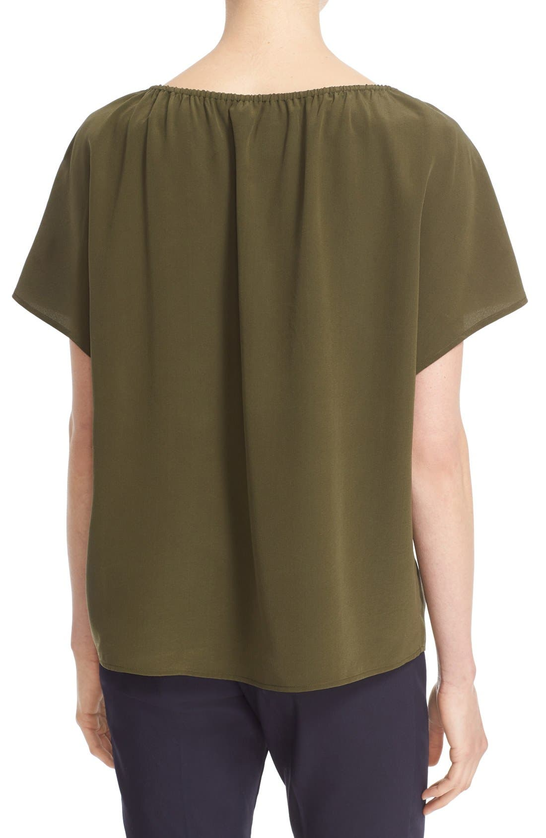 Alternate Image 2  - Tory Burch 'Camille' Embellished Silk Peasant Top