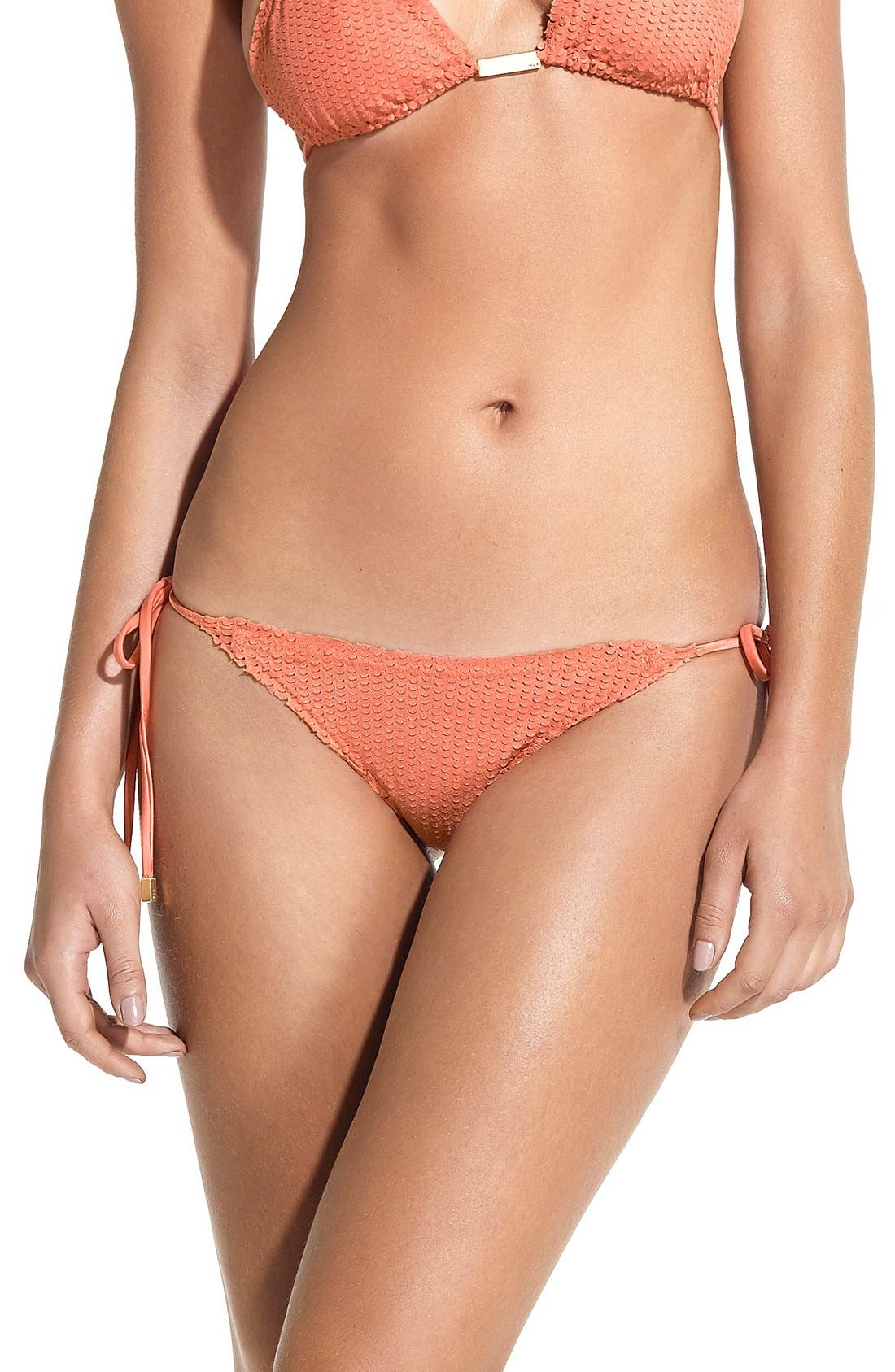 ViX Swimwear Laser Cut Side Tie Bikini Bottoms