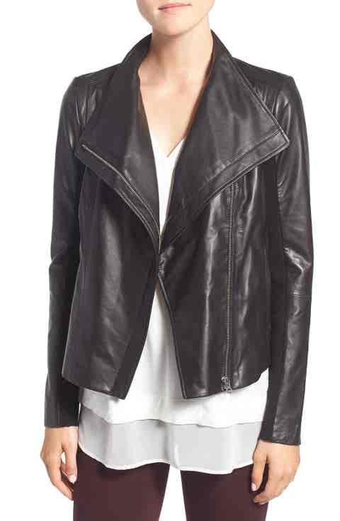 Trouvé Leather Moto Jacket
