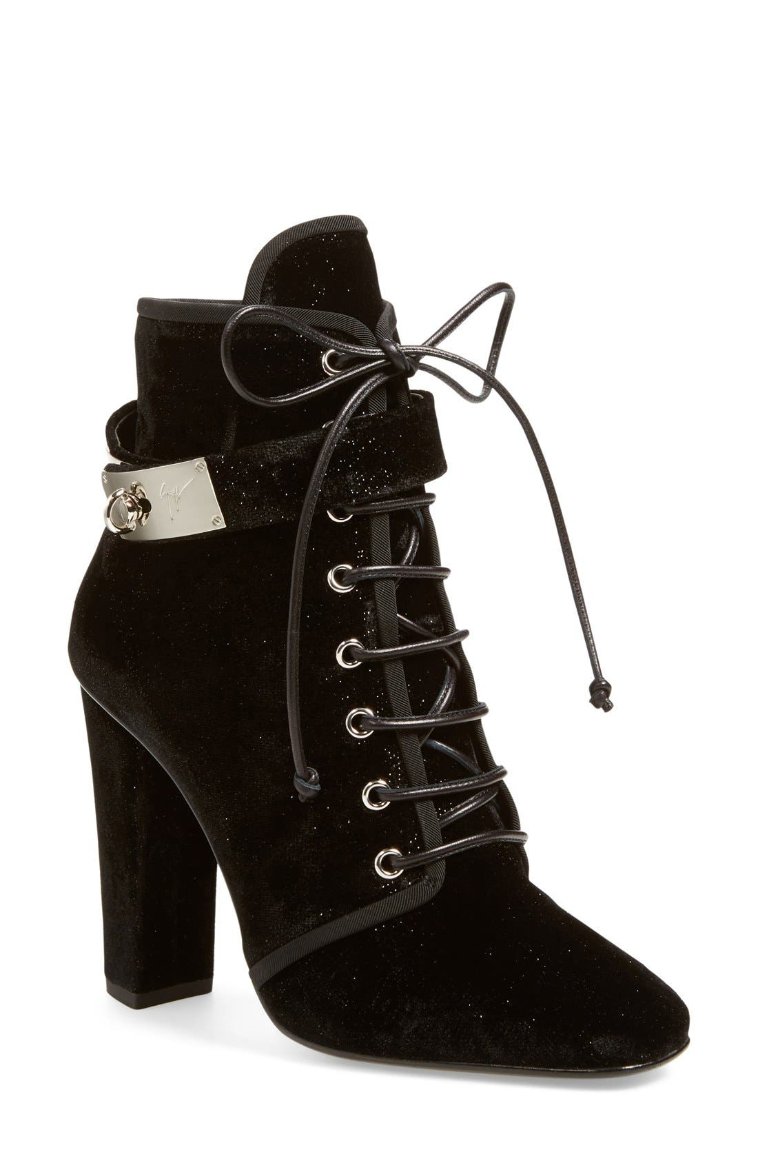 Alternate Image 1 Selected - Giuseppe Zanotti 'Alabama' Lace-Up Bootie (Women)