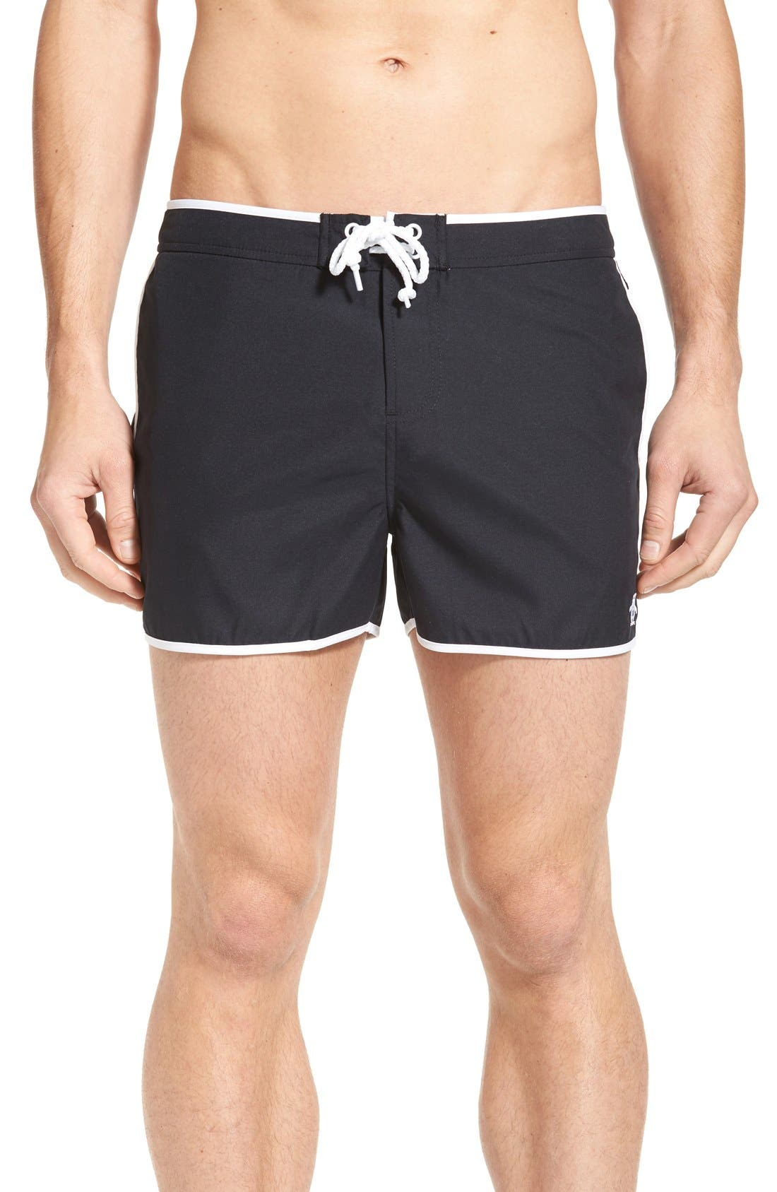 ORIGINAL PENGUIN Earl Fixed Waist Swim Trunks