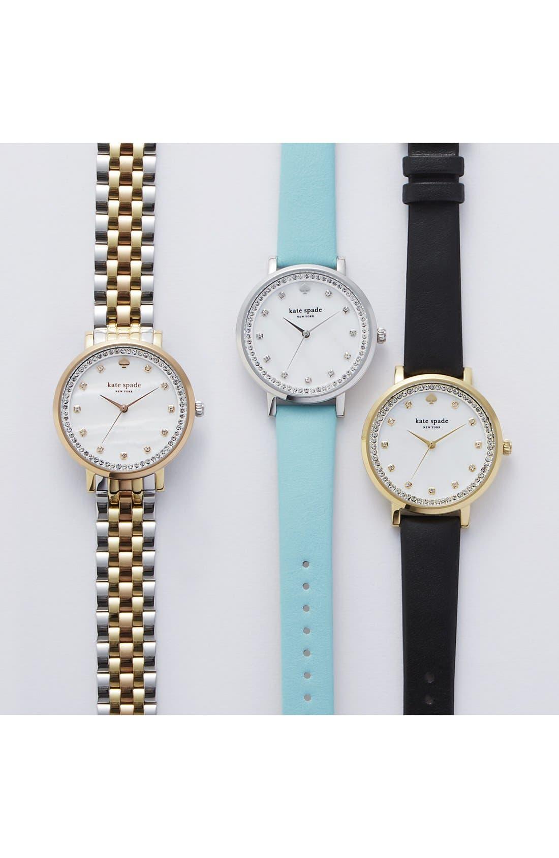 Alternate Image 5  - kate spade new york 'monterrey' leather strap watch, 38mm