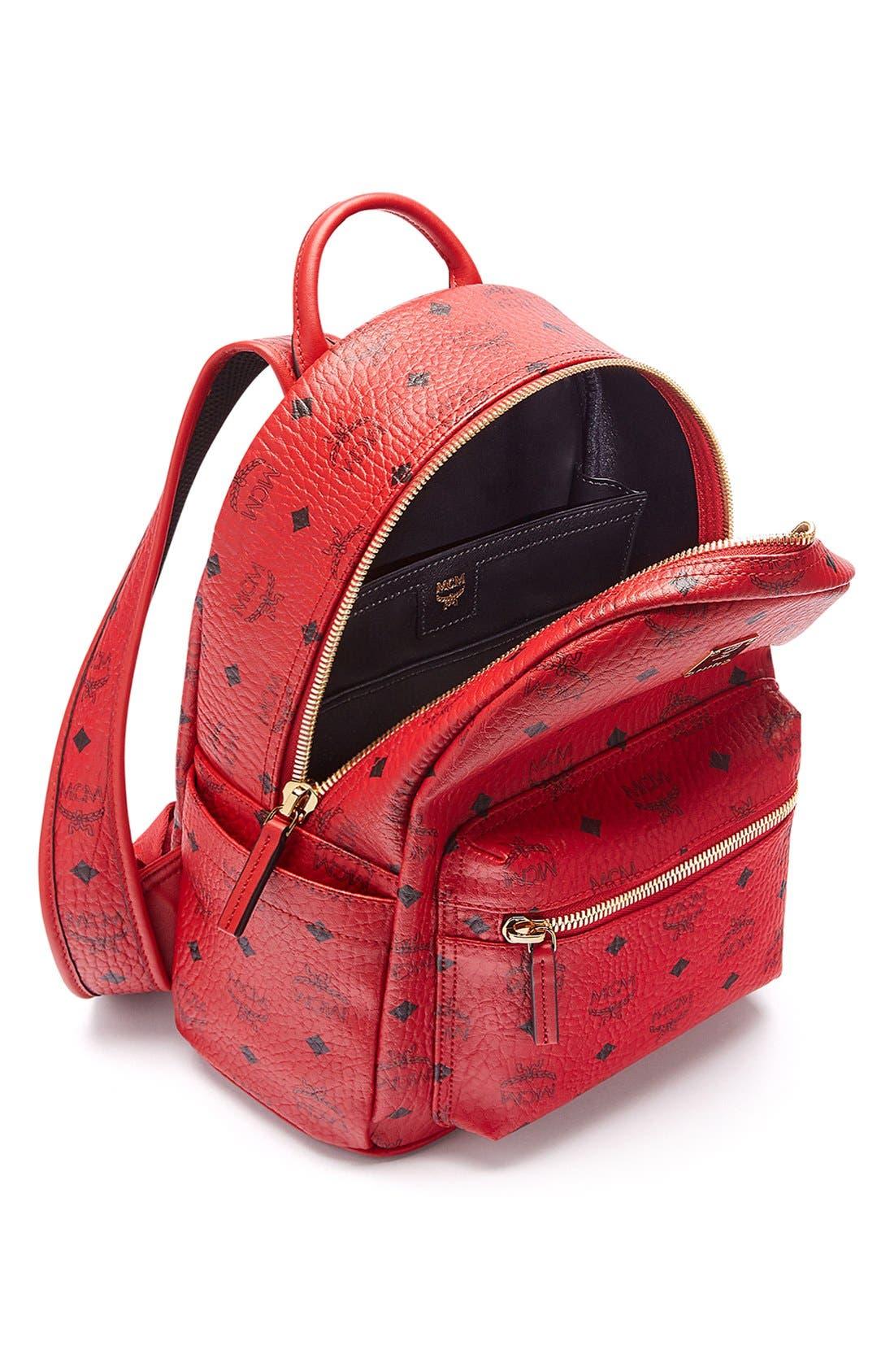 Alternate Image 4  - MCM 'Small Stark' Coated Canvas Backpack