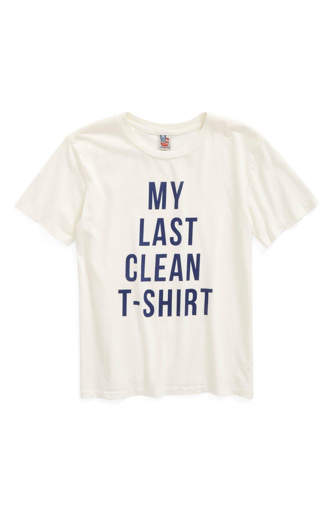 Alternate Image 1 Selected - Junk Food 'My Last Clean T-Shirt' Graphic T-Shirt (Big Boys)
