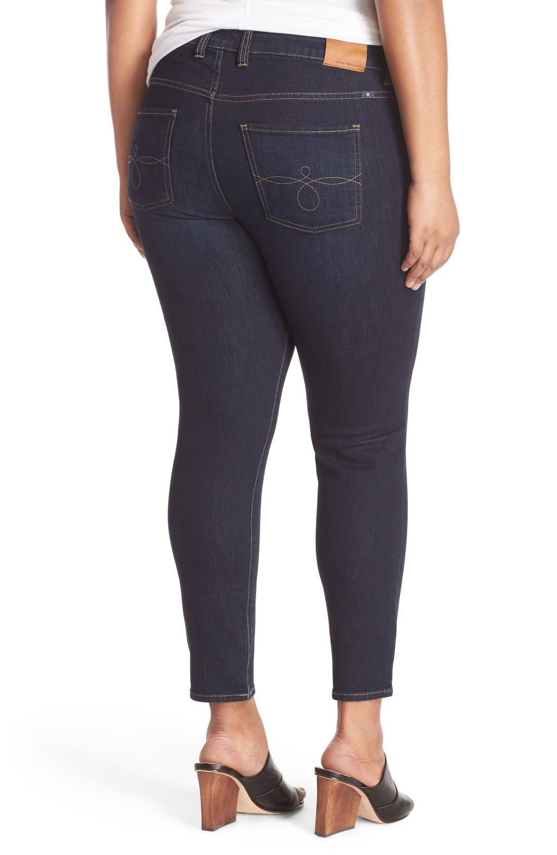 Alternate Image 4  - Lucky Brand Ginger Stretch Skinny Jeans (Plus Size)