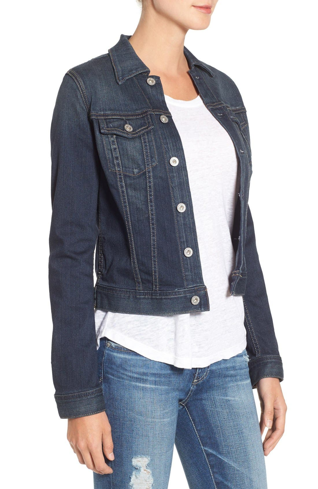 Alternate Image 4  - AG 'Robyn' Denim Jacket (Torrent)