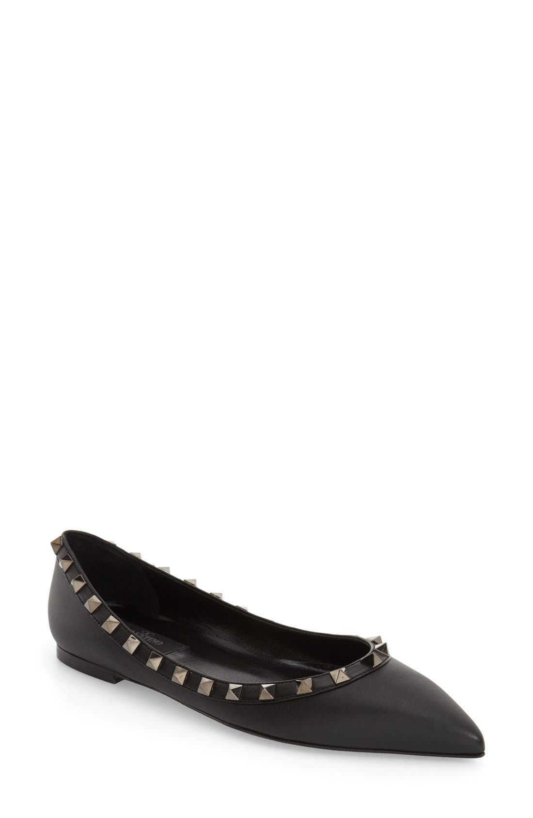 Alternate Image 1 Selected - Valentino 'Rockstud' Flat
