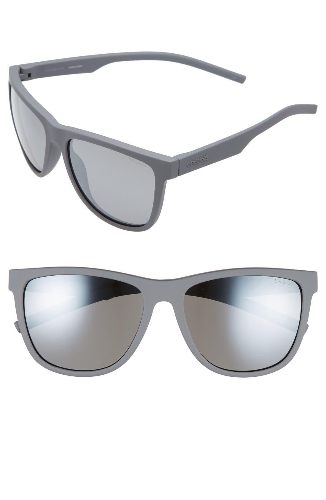 Polaroid Eyewear 56mm Retro Polarized Sunglasses