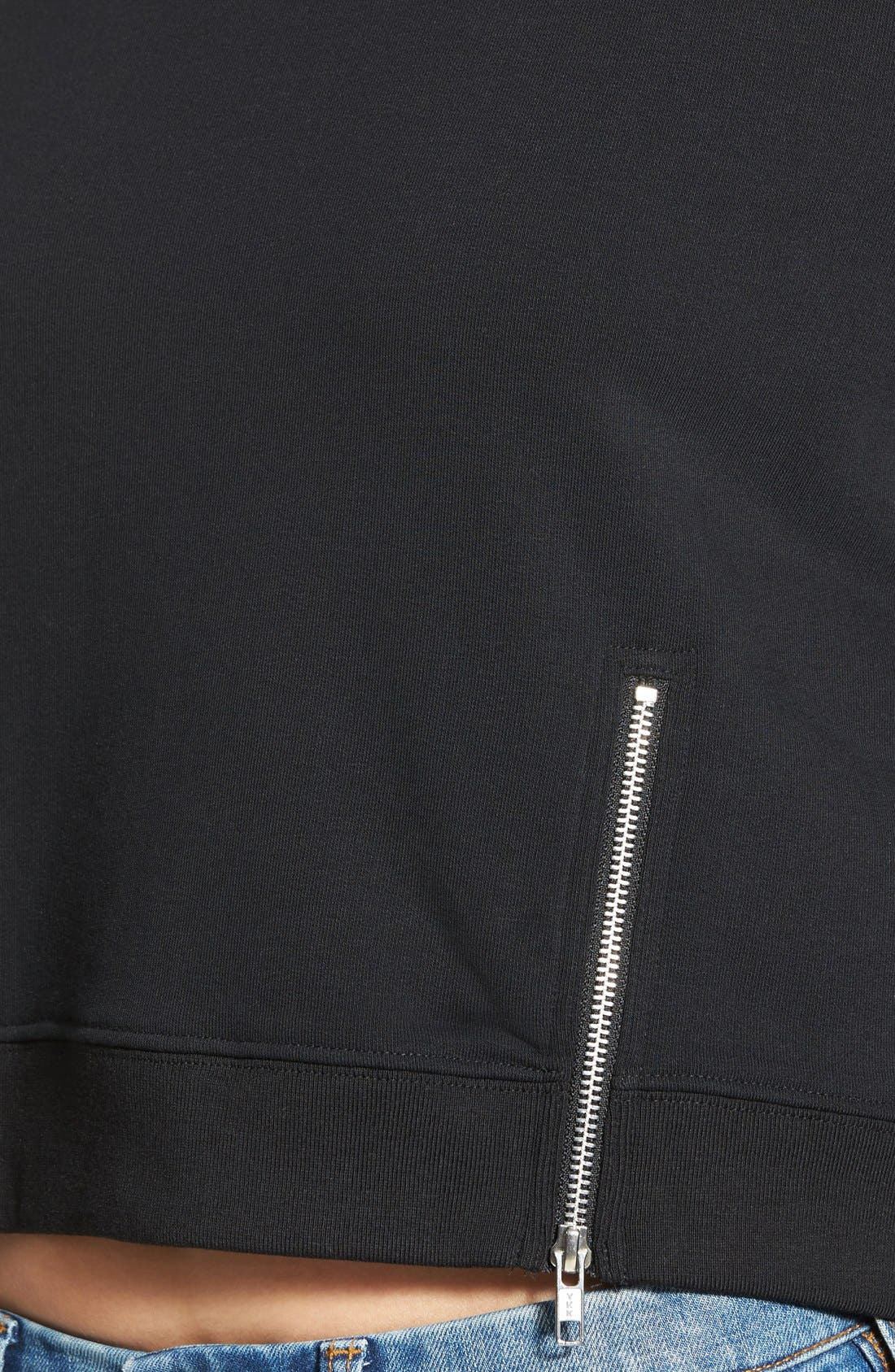 Alternate Image 4  - Cheap Monday 'Exact' Zip Hem Sweatshirt
