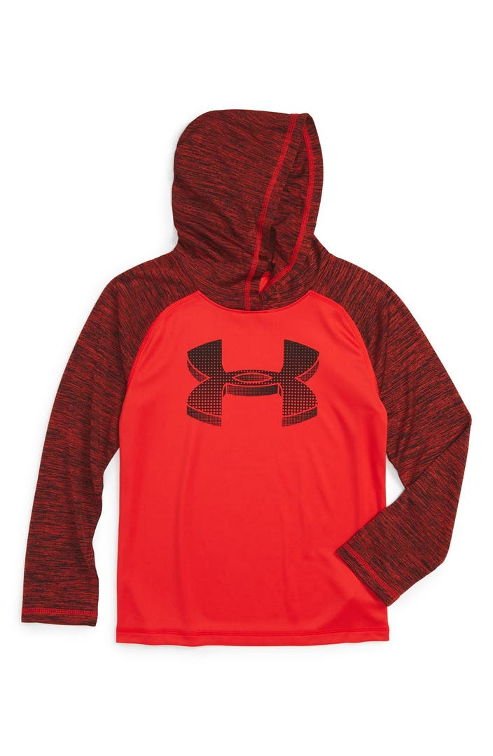 Under armour 39 ua tech 39 long sleeve hooded t shirt toddler for Boys long sleeve shirt with hood