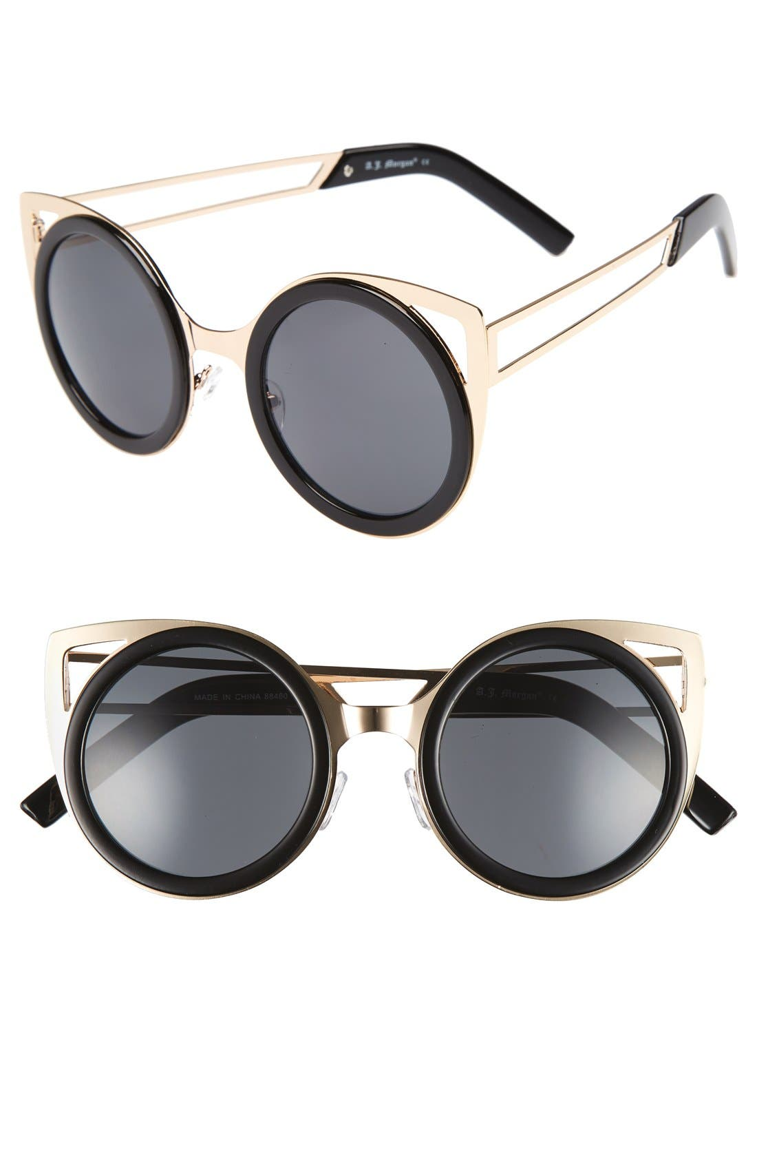 Main Image - A.J. Morgan 'Cheshire' 50mm Round Sunglasses